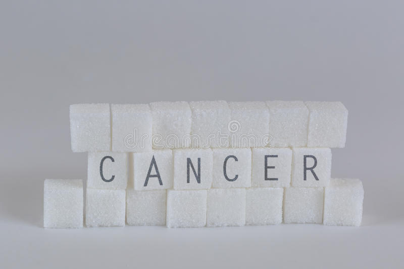 Sugar Cubes Cancer immagine stock