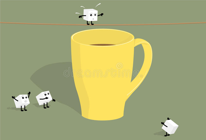 Download Sugar Cubes And Cup Of Coffee Stock Vector - Illustration: 16647436