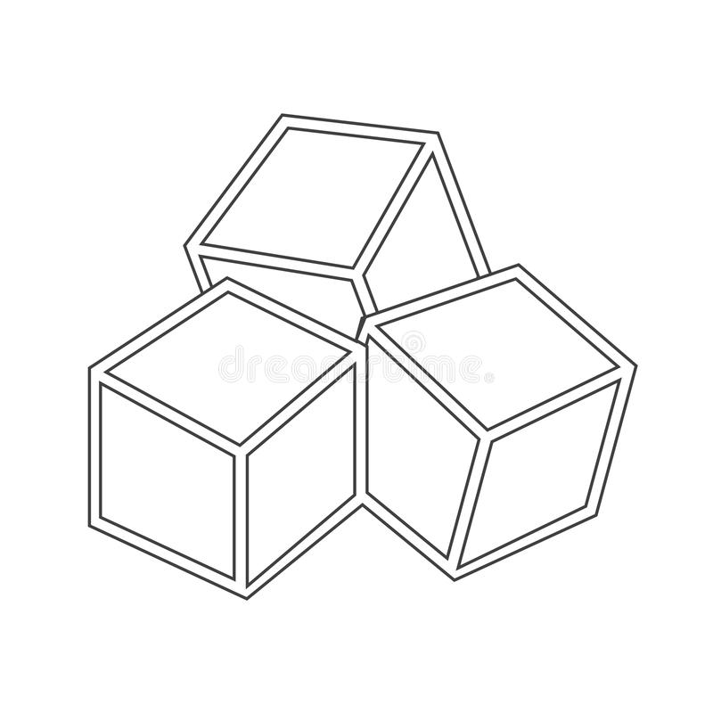 Sugar cubes icon royalty free illustration