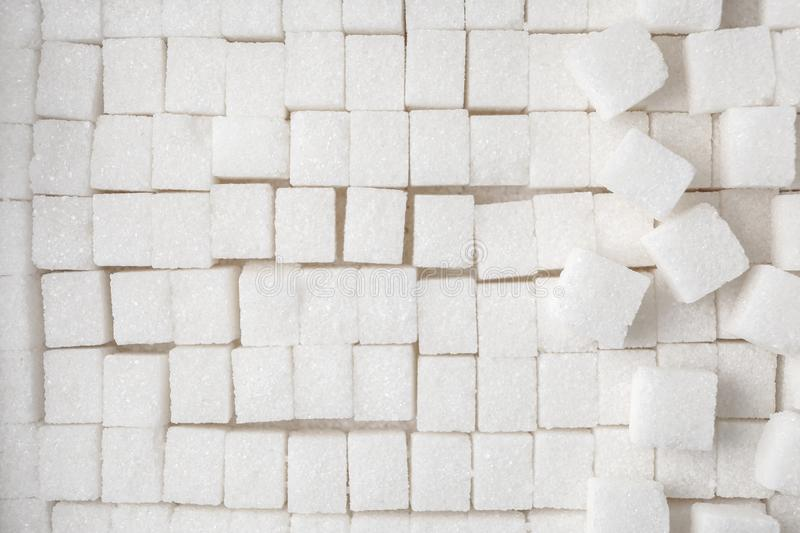 Sugar cubes, top view royalty free stock images