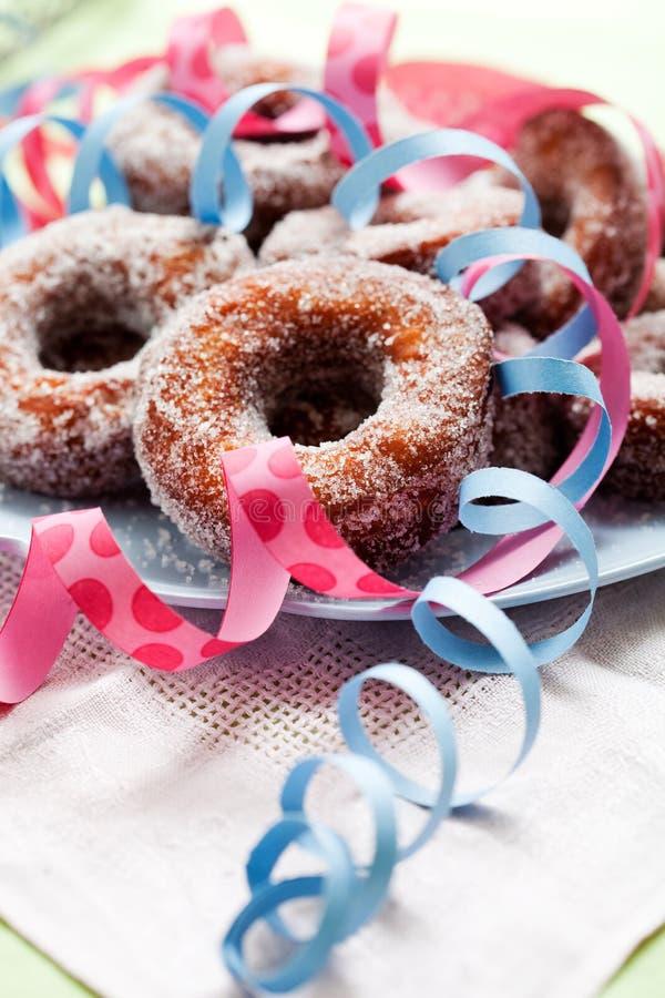 Sugar Donuts foto de archivo libre de regalías