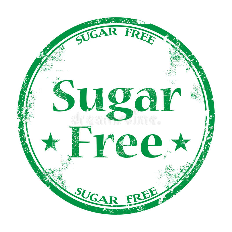 Sugar free grunge rubber stamp royalty free stock photography