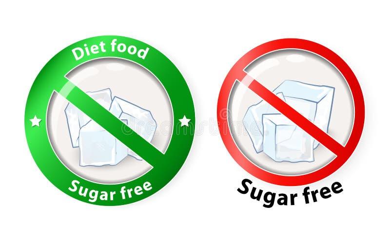Sugar free royalty free illustration
