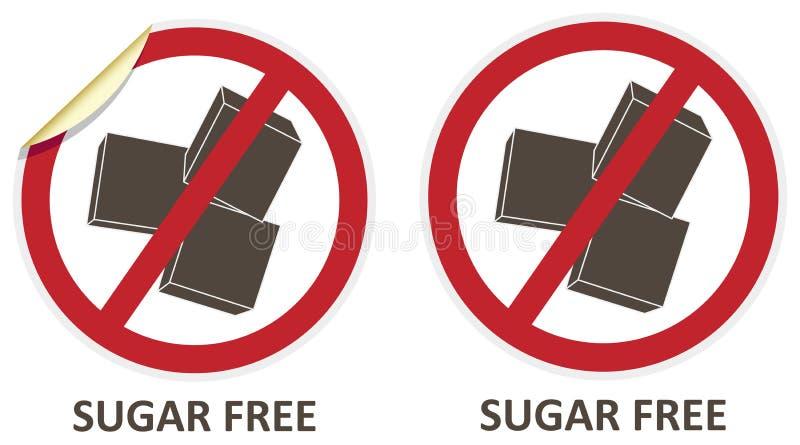 Sugar Free Icons royalty-vrije illustratie