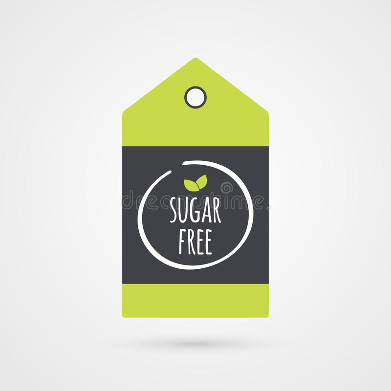 Sugar Free label. Food icon. shopping tag sign isolated. royalty free illustration