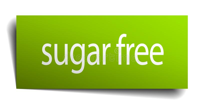 Sugar free sign. Sugar free square paper sign isolated on white background. sugar free button. sugar free stock illustration
