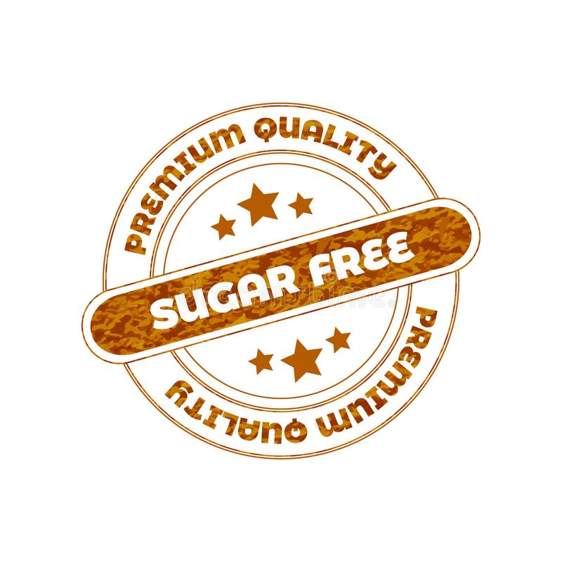 Sugar Free Vector Stamp stock foto's