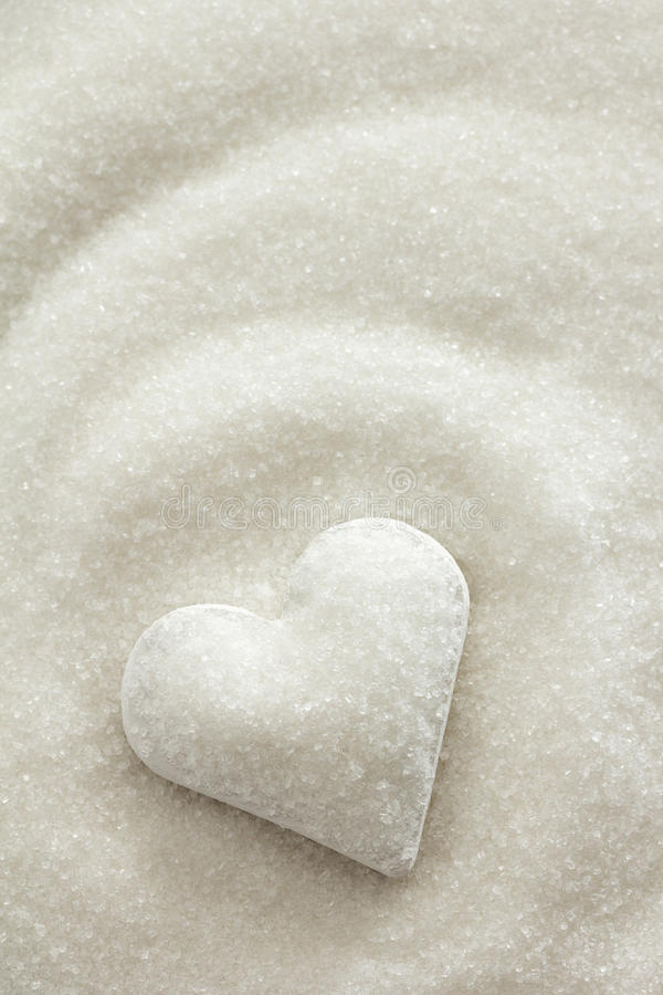 Sugar Heart. Heart covered in white sugar
