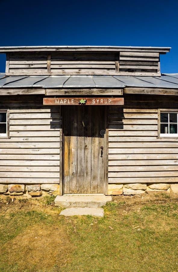 Sugar House de Duff que faz o xarope de bordo imagem de stock