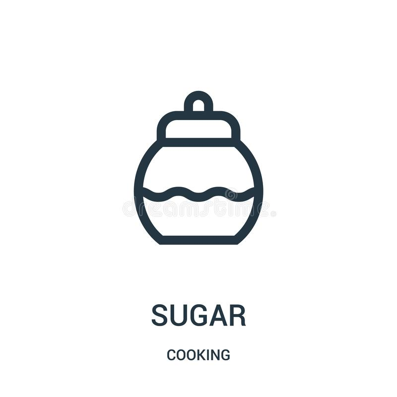 sugar icon vector from cooking collection. Thin line sugar outline icon vector illustration. Linear symbol royalty free illustration