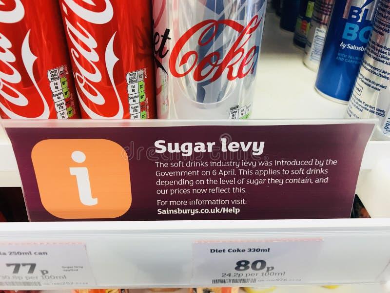 Sugar Levy Tax lizenzfreies stockfoto