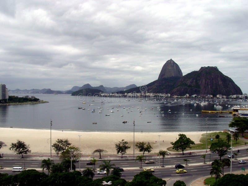 Sugar loaf. And Botafogo beach stock image