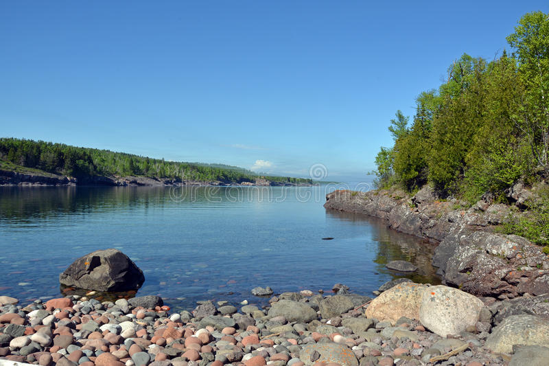 Sugar Loaf Cove 1, o Lago Superior fotografia de stock