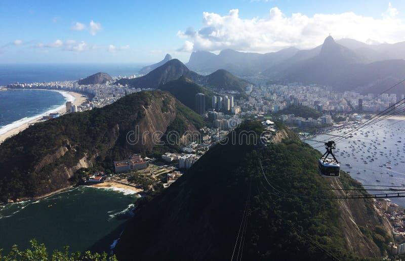 Sugar Loaf Mountain View ( Pão de Açúcar) , Rio de janeiro, Brasil imagens de stock royalty free