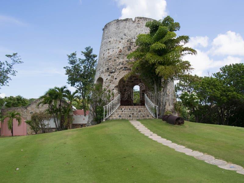 Sugar Mill i St Croix royaltyfria bilder