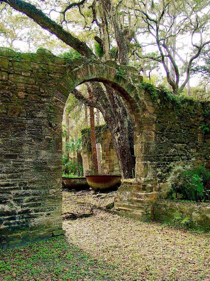 Sugar Mill Ruins idoso foto de stock