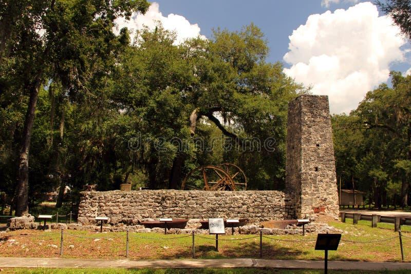 Sugar Mill Ruins. Yulee Sugar Mill Ruins Historic State Park in Homosassa, Florida royalty free stock images