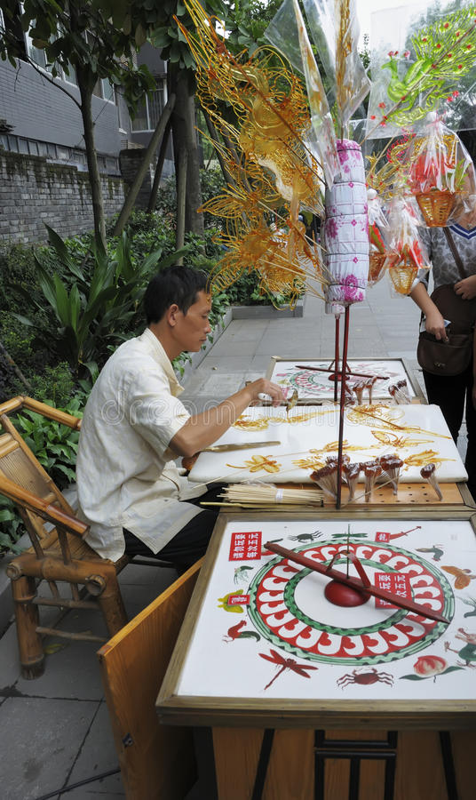 Sugar painting artists stock photography