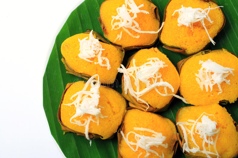Sugar palm cake with coconut. Dessert Thai sweet sugar palm cake with coconut stock images