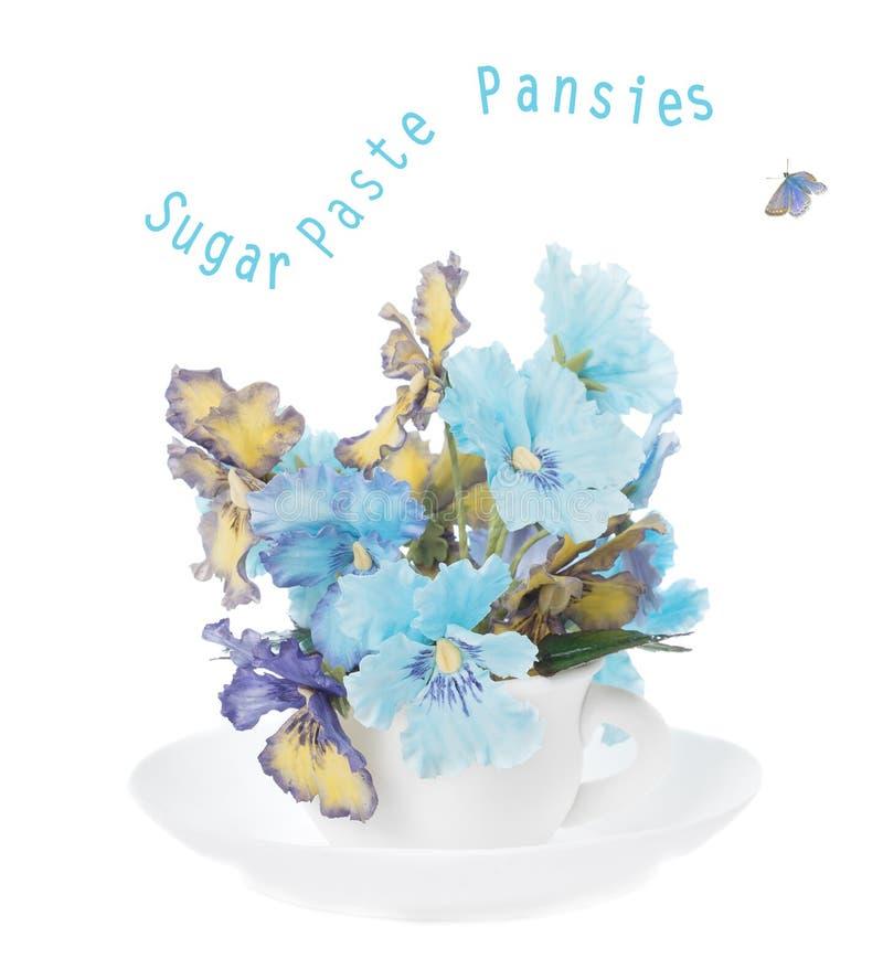 Sugar Paste Pansies arkivbilder