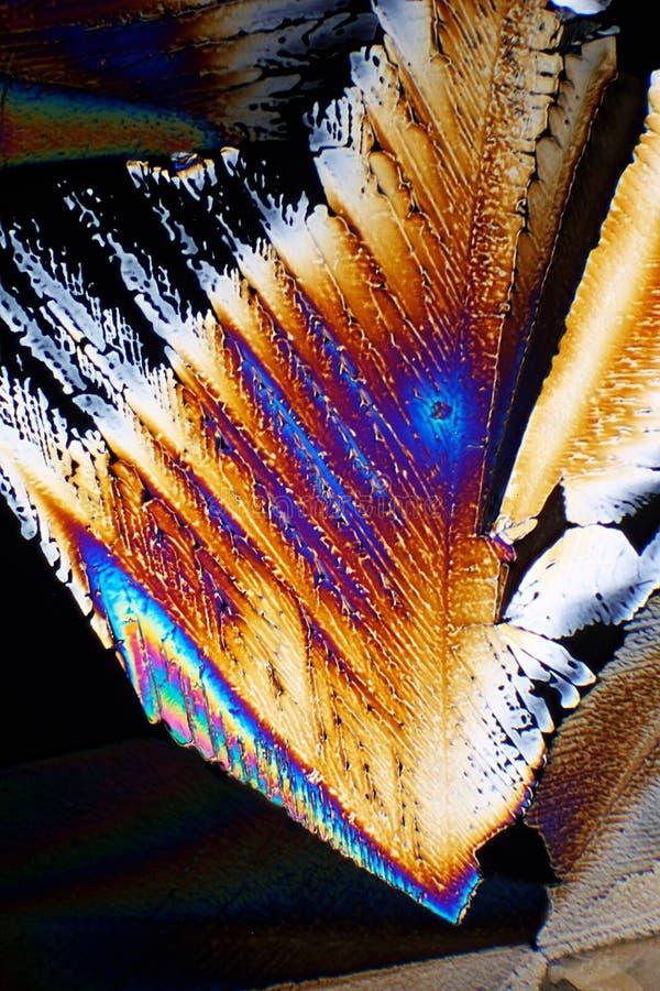 Sugar in polarized light stock photos