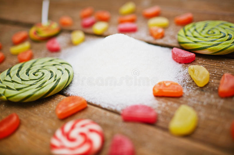 Sugar products stock image