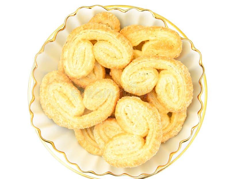 Sugar Puff Cookies på plattan arkivbild
