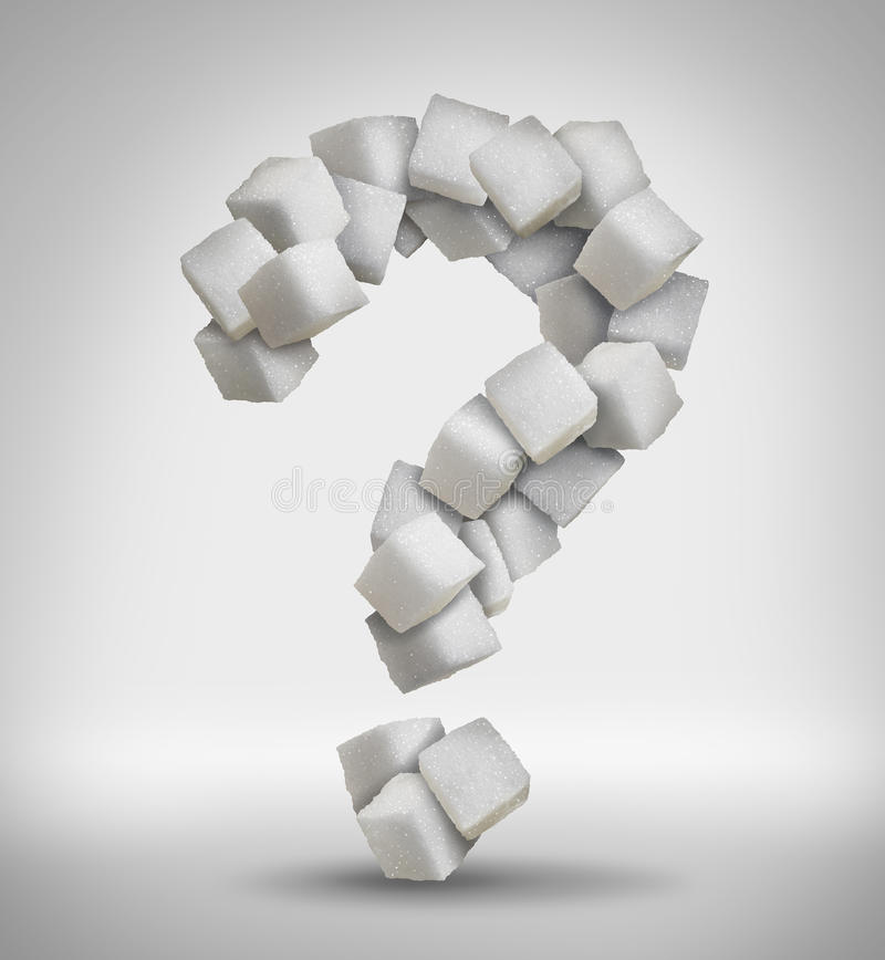 Free Sugar Question Royalty Free Stock Image - 53951346