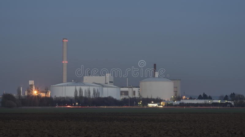 Sugar Refinery Plant stock image