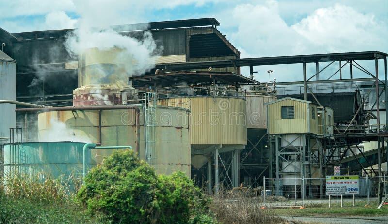 Sugar Refinery Working During Crushing Season stock images