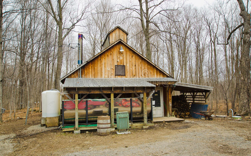Sugar shack in Quebec royalty free stock image