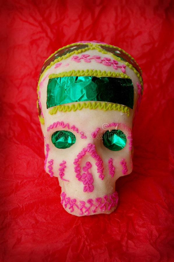 Sugar-skull. Sugar skull with red backround royalty free stock photo