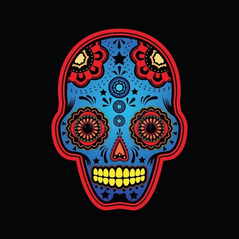 Download Sugar Skull Colored Version Stock Vector - Illustration: 20183843