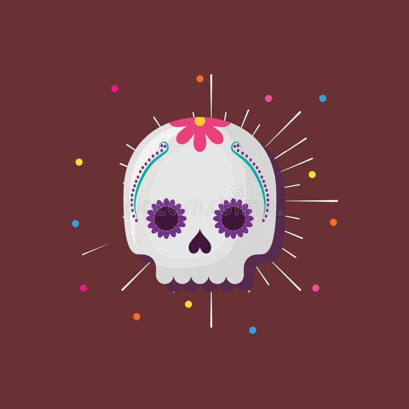 Mexican sugar skull stock illustration