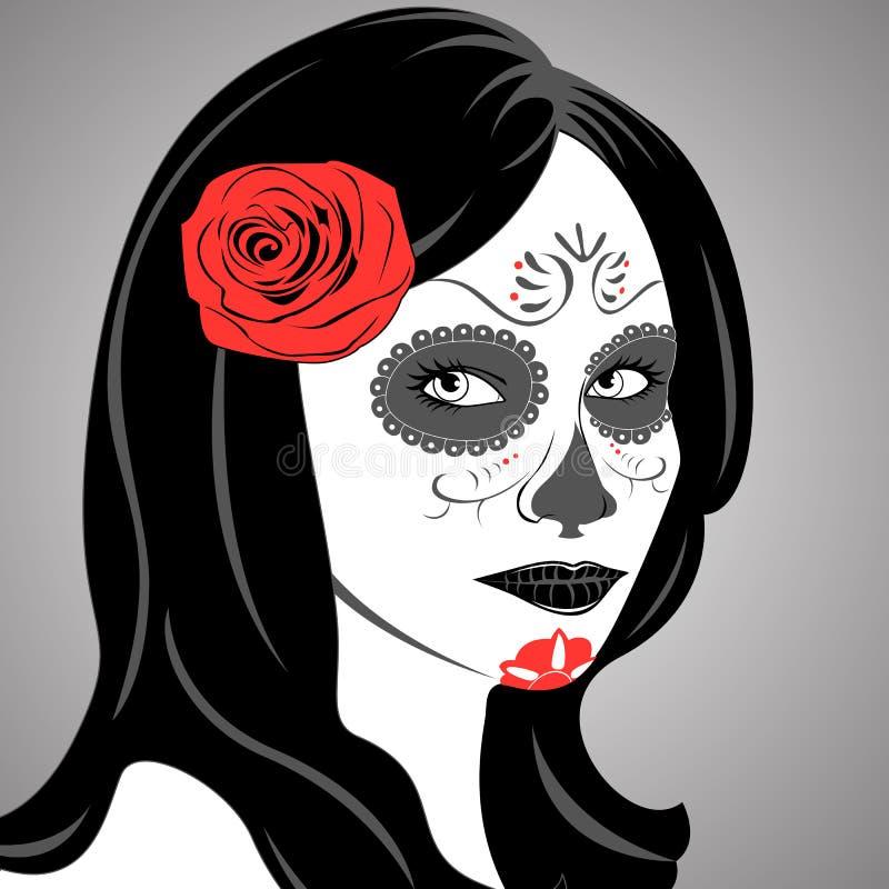 Sugar Skull Lady libre illustration