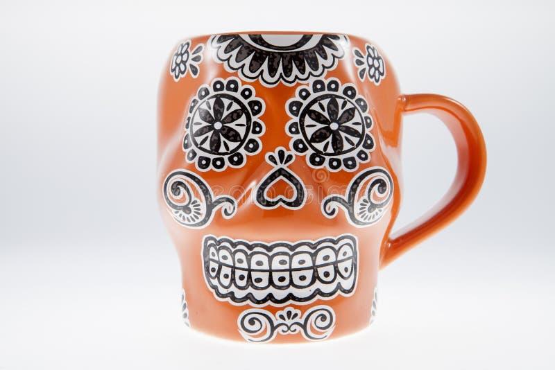Sugar Skull Mug royaltyfri foto