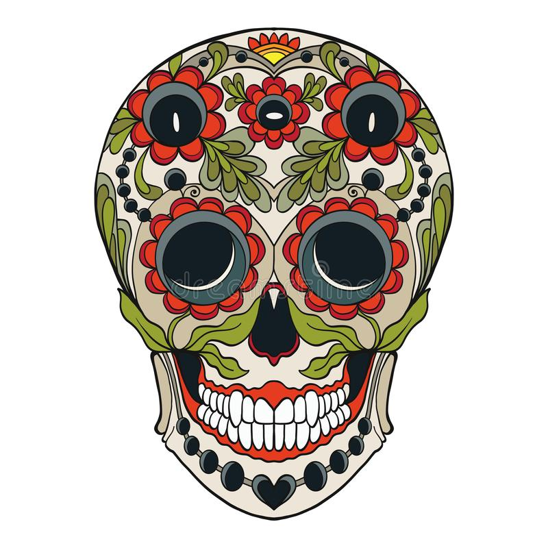 sugar skull the traditional symbol of the day of the dead stoc rh dreamstime com day of the dead vector graphics day of the dead vector free
