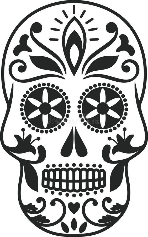 Sugar Skull. The Sugar Skull is vector illustration royalty free illustration
