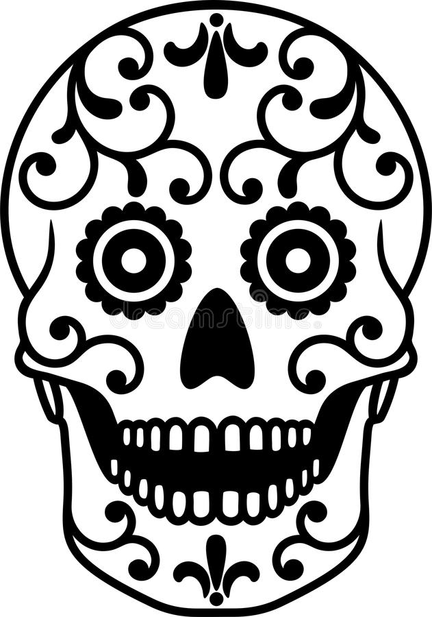 sugar skull stock vector illustration of life design 98263526 rh dreamstime com sugar skull vector pack sugar skull vector image