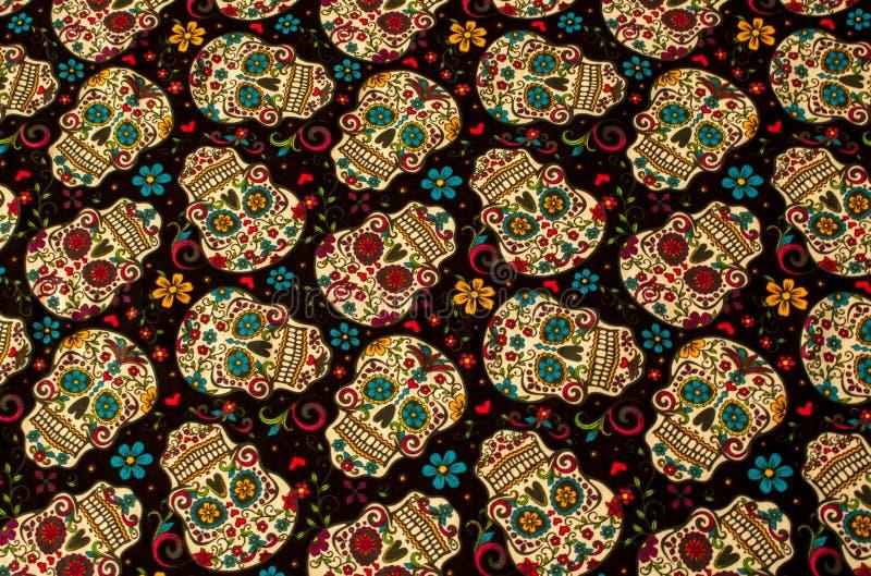 Sugar Skulls Day colorido del fondo muerto fotos de archivo libres de regalías