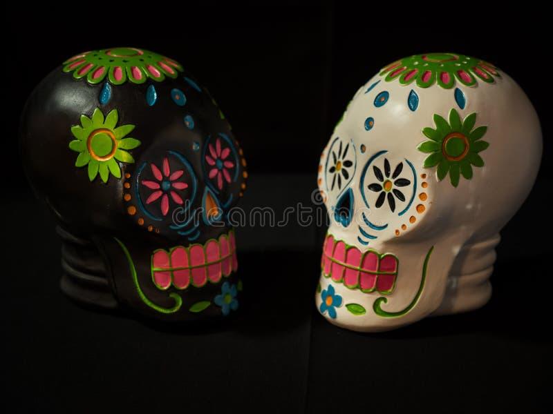 Sugar Skulls Dias de la Muerte royaltyfria bilder
