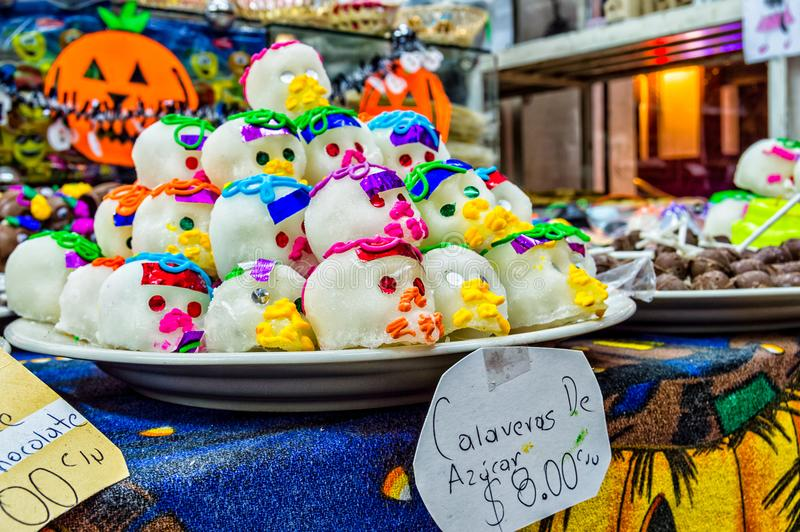 Sugar Skulls 2. Mexican sugar skulls, shot in Chiapas, Mexico stock image