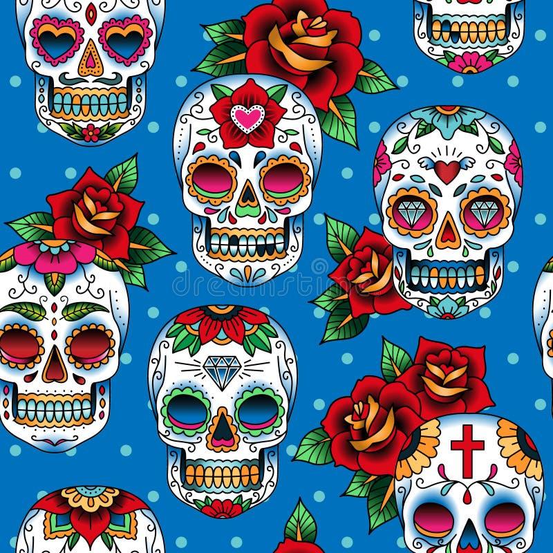 Sugar skulls royalty free illustration