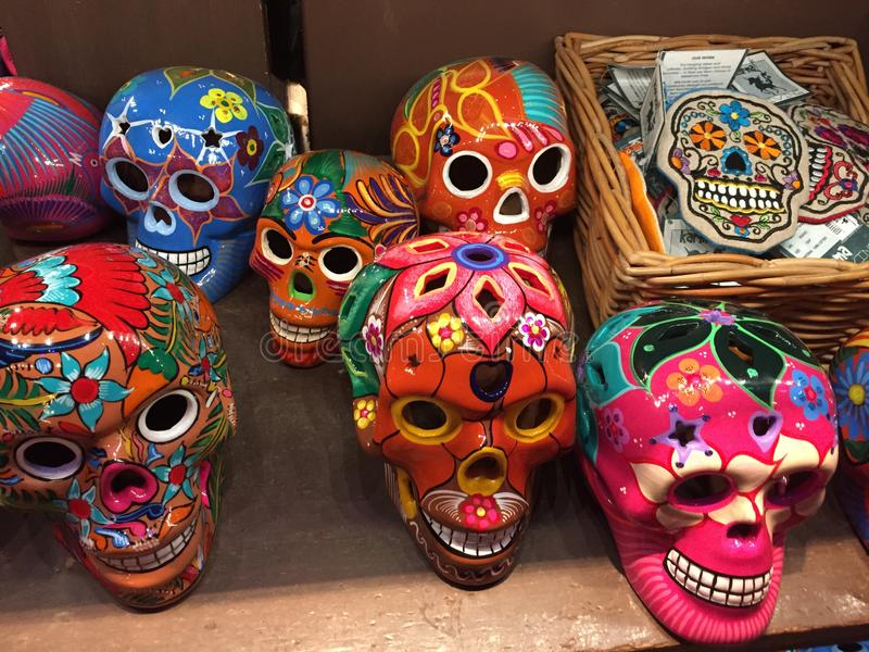 Sugar Skulls. At a gift shop in Epcot at WDW stock photo