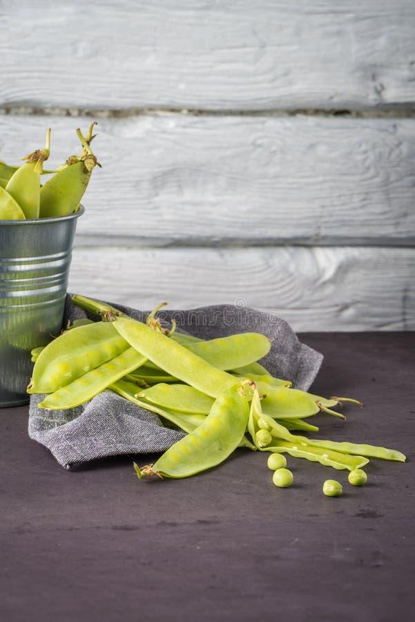 Sugar Snap Peas verde fotos de stock