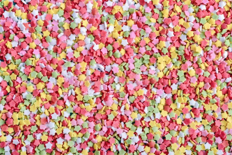 Sugar Star Sprinkles colorido fotos de stock royalty free