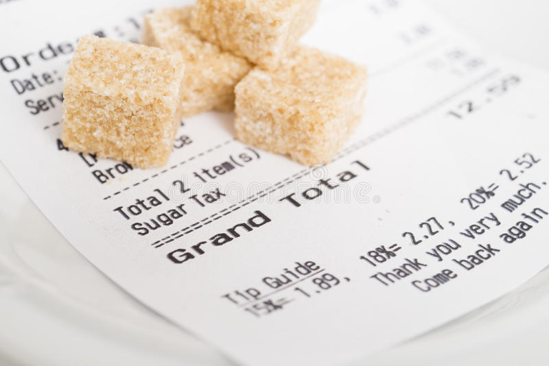 Sugar Tax stockfotografie