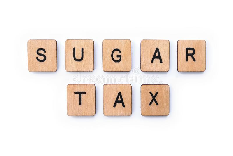 Sugar Tax photo stock