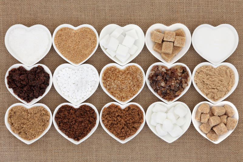Sugar Varieties royalty free stock photo