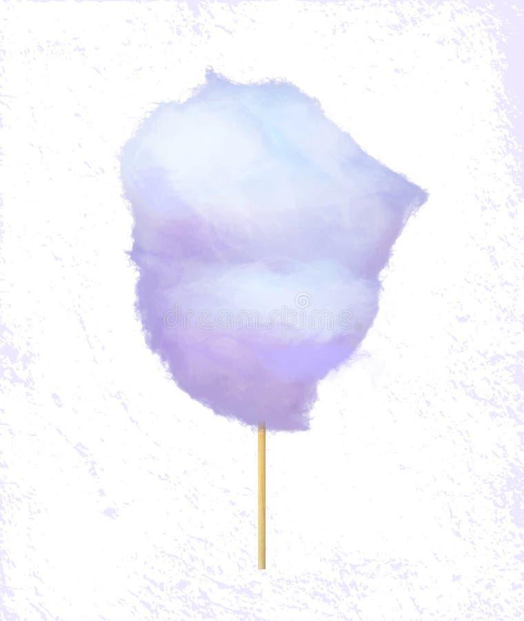 Sugar Wadding auf Glasschlacke, Zuckerwatte-Aufkleber-Vektor lizenzfreie abbildung